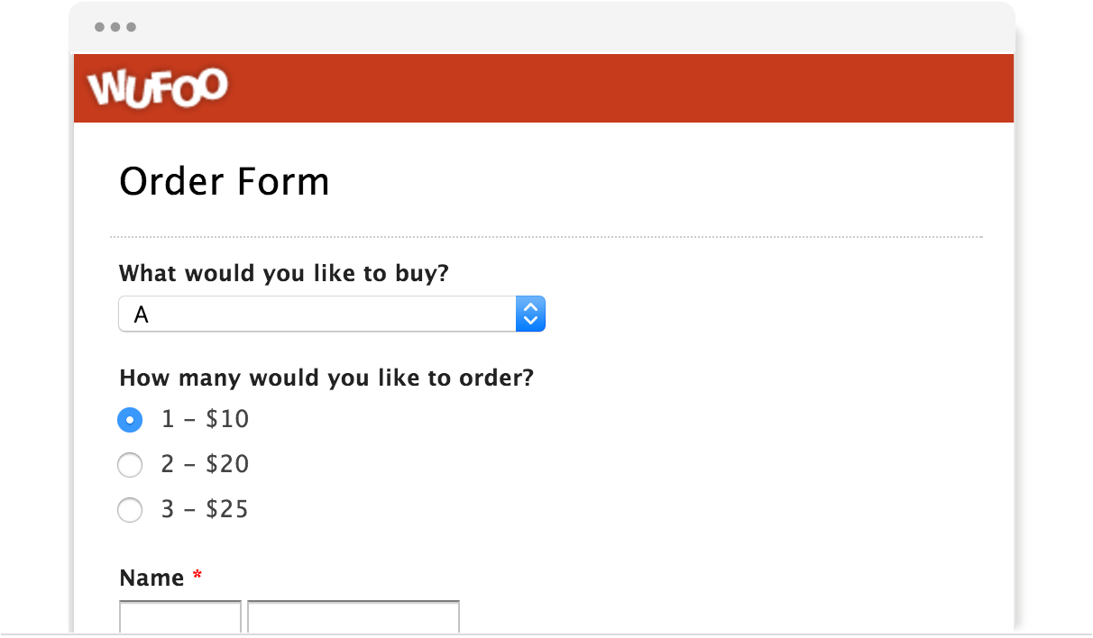 examples of online forms wufoo