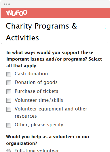 Charity Programs & Activities