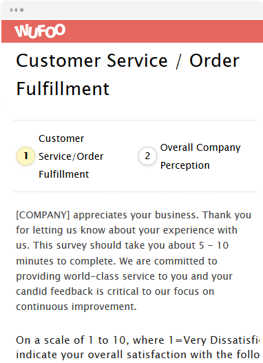 Customer Service / Order Fulfillment