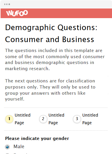 Demographic Questions: Consumer and Business