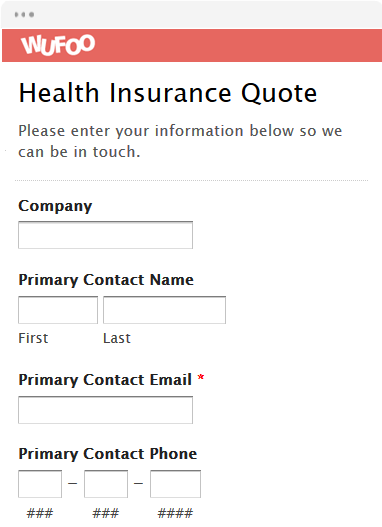 Health Insurance Quote