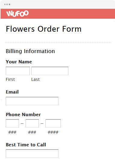 online order form templates