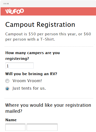 Campout Registration