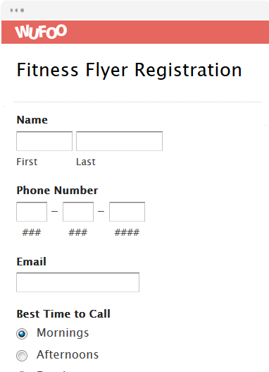 Fitness Flyer Registration