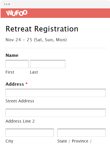 Retreat Registration