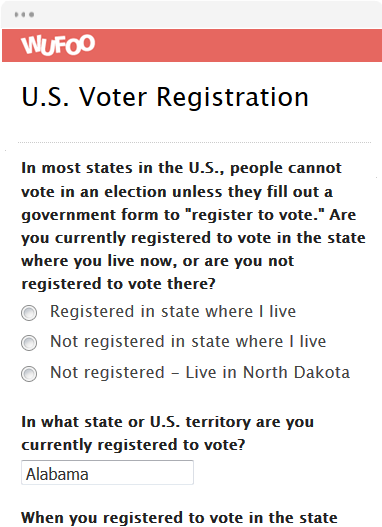 U.S. Voter Registration