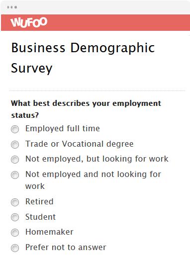 sample of survey form