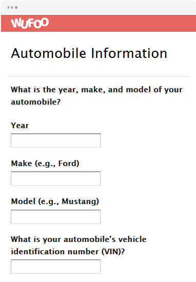 Automobile Information