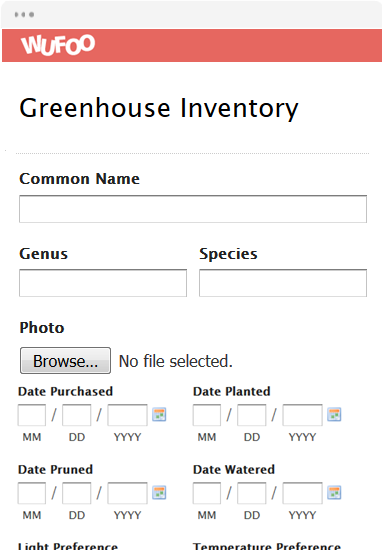 Greenhouse Inventory