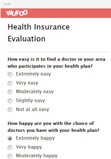 Health Insurance Evaluation
