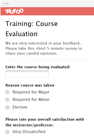 Training: Course Evaluation