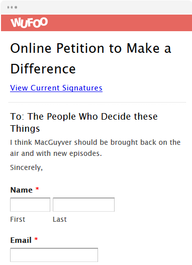 online petition template