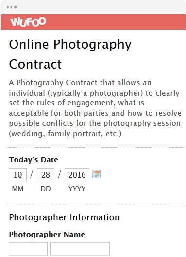 Online Photography Contract