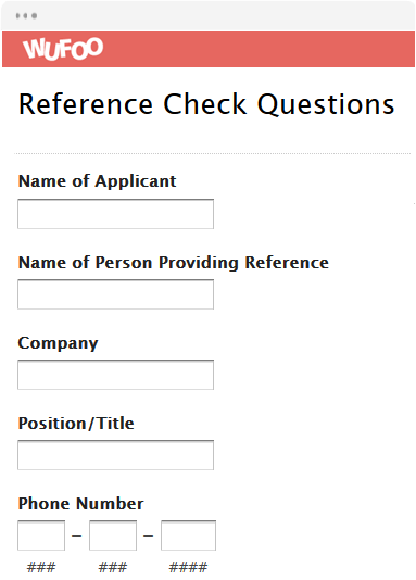 reference check templates