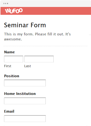 Sample workshop registration form template sample workshop seminar registration form template word image collections template maxwellsz