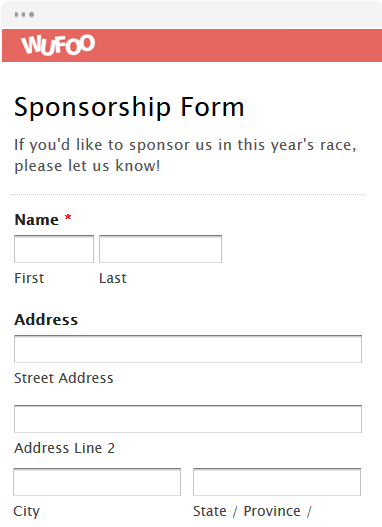 Awesome Sponsorship Form Template Ornament - Certificate Resume ...