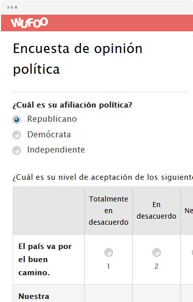Encuesta de opinión política
