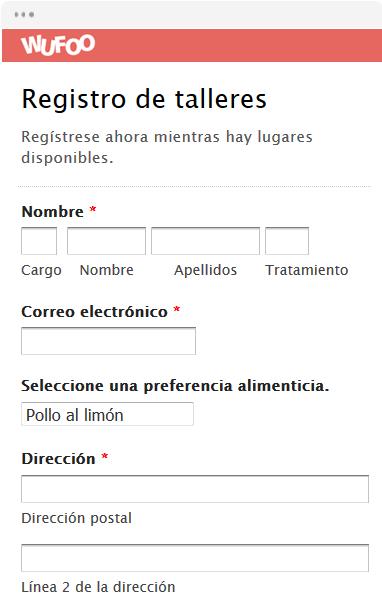 Registro de talleres
